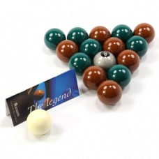 Aramith Premier Green & Brown Pool Balls