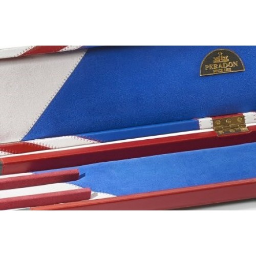 Handmade 1//2 Jointed Blue Union Jack 2 Compartment Snooker Cue Case