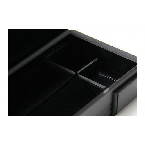 Black Aluminium 3 4 Cue Case