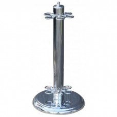 Chrome Six Hole Cue Stand